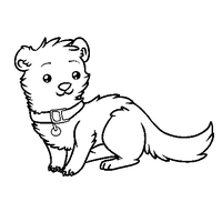 Paint friendly Ferret Lineart by RegallyFlawed