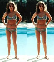 3d busty Jacqueline Bisset Bikini cropped by 3dpinup