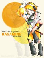 Kagamine Rin and Len by whitelilium
