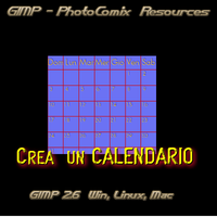 Gimp _Crea Calendario by photocomix-resources