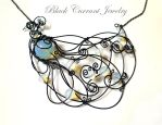 Blue Peacock by blackcurrantjewelry