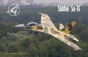 Sukhoi Su-55 'Freeride' by Bispro
