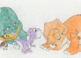 56 Meet your auntie Cera, Chomper! (coloured) by TheEvilHadrosaur