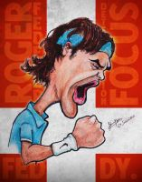 Roger Federer - Caricature by libran005