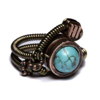 Steampunk ring Turquoise by CatherinetteRings