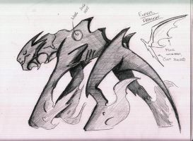 Enderdragon Sketch: Version 2 by CriticalRobotBoy