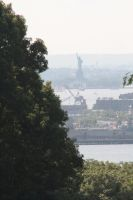 Statue of Liberty fron Green-Wood Cemetery Green-W by jswis