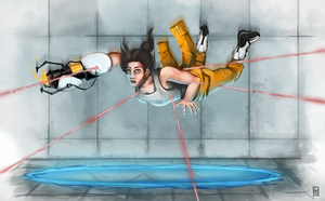 Chell's Still Alive by Spikings