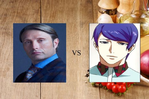 Cooking Contest: Hannibal vs. Tsukiyama by JasonPictures
