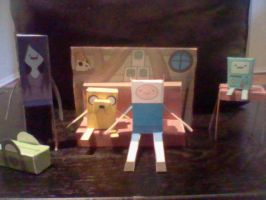 Adventure time cut-outs by J-craze