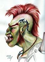 Angry Orc by teutelquessir