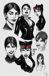 Cat Woman Doodles by ArtWarrior25