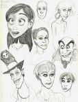 Character Doodles by DuckLoverX2