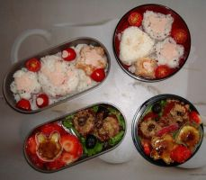 White and red bento by Vetriz