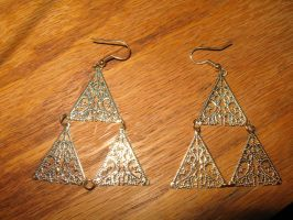 My Triforce Earrings by Artsy-Seachel
