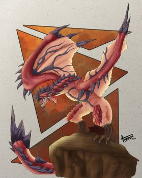 Monster Hunter Rathalos by Temizuya