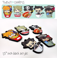 TWEWY Charms for sale by hakei