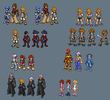 Kingdom hearts sprite dump by Zenaki