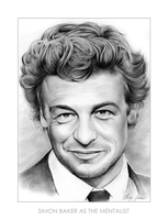 Simon Baker as the Mentalist (pencil drawing) by gregchapin
