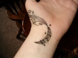 Music Staff Tattoo by wildlittlewolf13