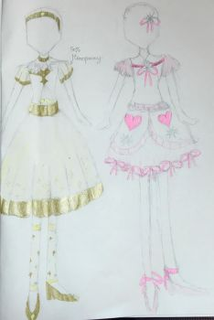 Twinkle Hime 1st designs by aliciadreamart