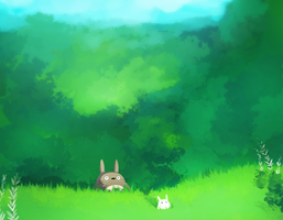 totoro field by leahmsmith