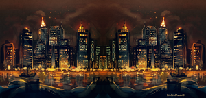 Trough the night flames by RinRinDaishi