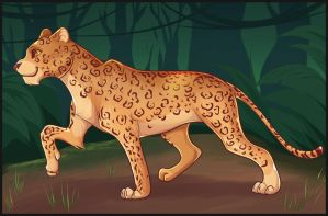 Cartoon Leopard by Dragoart