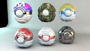 Futuristic Pokeballs by Baconb0y