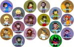 Homestuck Buttons by quinkee