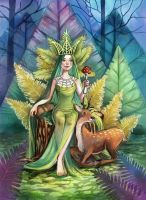 Queen of Moss and Ferns by Vasylissa