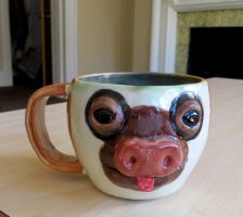 Two Toed Sloth Mug by aviceramics