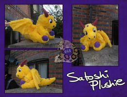 Satoshi plushie by SnowGryphonSuits