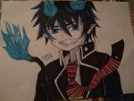 Rin Ao no exorcist/Blue exorcist by Sigli182