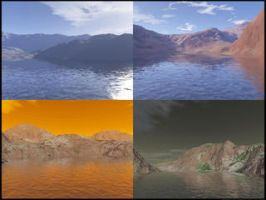 Terragen Waterscape Works Mix by KannushiLink