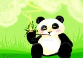 smoking panda by kika1983