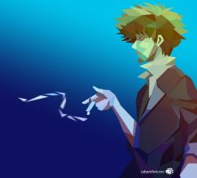 Spike (Cowboy Bebop) - polygon portrait by Blind-Pixel777