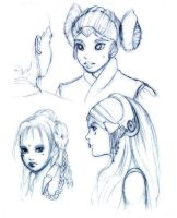 Queen Amidala sketches by mree