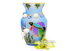 Betta fish flower vase by cardiae