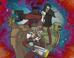 The Guardians of the Galaxy by justinbysma