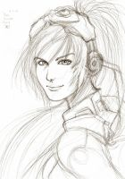 Sarah Kerrigan Sketch by Vladsnake