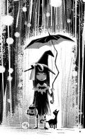 Rainy Halloween by mikemaihack