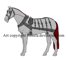 Generic Carriage Horse Lineart by Rosela-Kitsuna