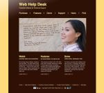 Web Help Desk Shiny and Brown by LotusGirl717
