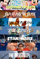+Disney Movies Fonts by ISatQuietly