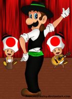 Luigi flamenco and ole XD by Princesa-Daisy