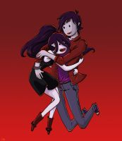Marceline and Marshall Lee by creampuffy