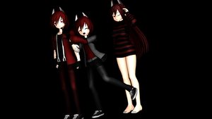 MMD Newcomers: Cerberus, Cebby, and Cece by Rinic-the-Fox