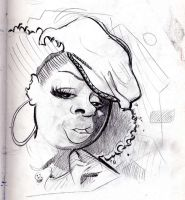 Caricature of angie stone by thesmokeking