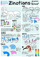 Zinotians Species Reference: Closed Species by Falkzii